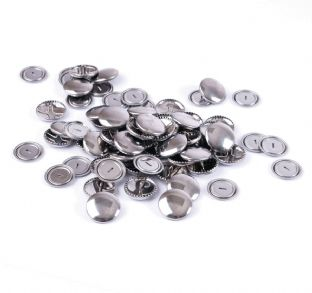 473.38 Self Cover Buttons: Metal Top - 38mm, 100 Sets